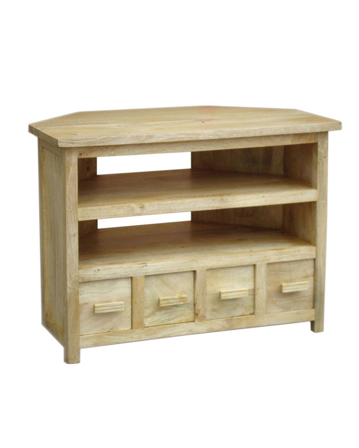 Mangat Tall Corner Tv Unit Oak Shade - Homescapes regarding Oak Effect Corner Tv Stand (Image 5 of 15)