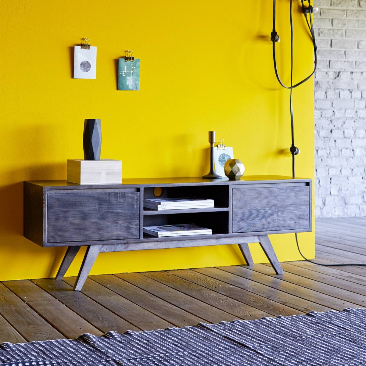 Mango Tv Stand - Moka Tv Stands Sale At Tikamoon pertaining to Yellow Tv Stands (Image 5 of 15)