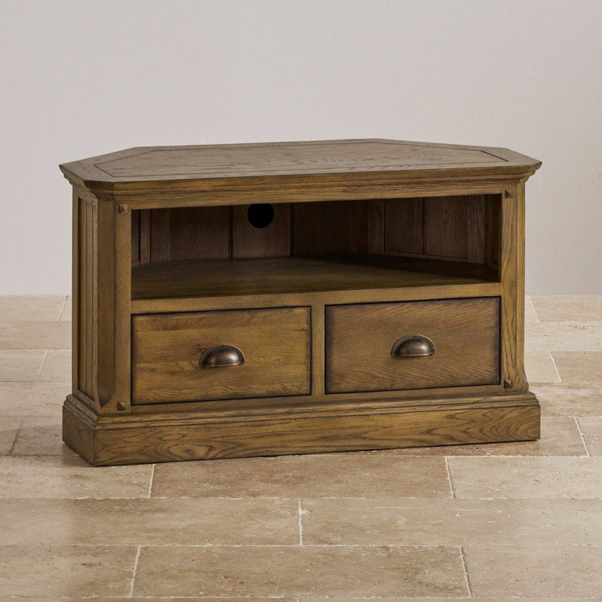 Manor House Corner Tv Cabinet In Solid Oak | Oak Furniture Land With Regard To Solid Oak Corner Tv Cabinets (View 10 of 15)