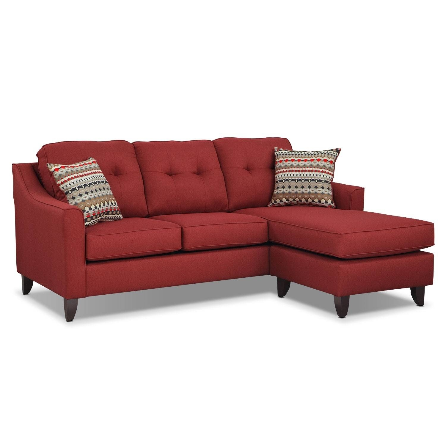Marco Chaise Sofa - Red | Value City Furniture for Chaise Sofas (Image 12 of 15)