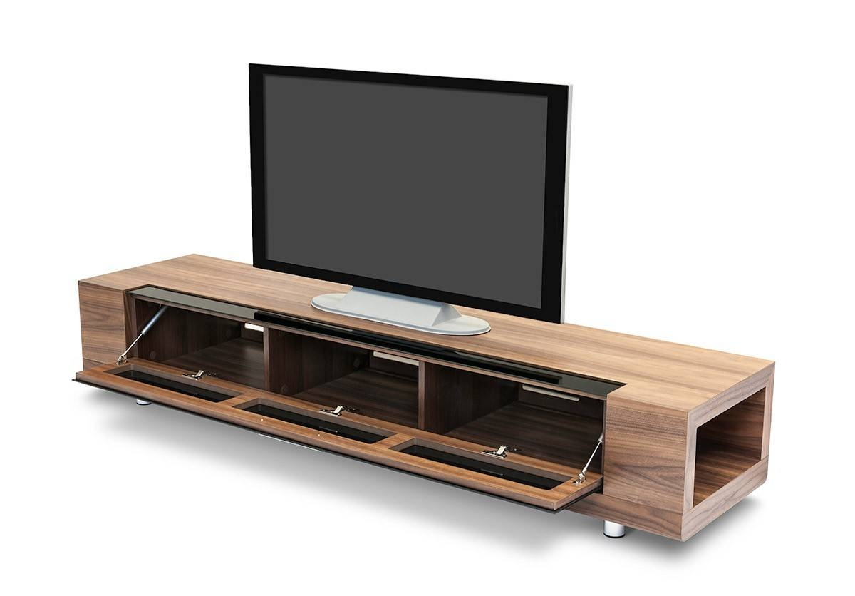 Marcus Modern Walnut Veneer Tv Stand throughout Modern Walnut Tv Stands (Image 8 of 15)