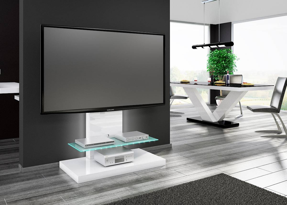 15 best high gloss white tv stands for Tall tv stands for living room