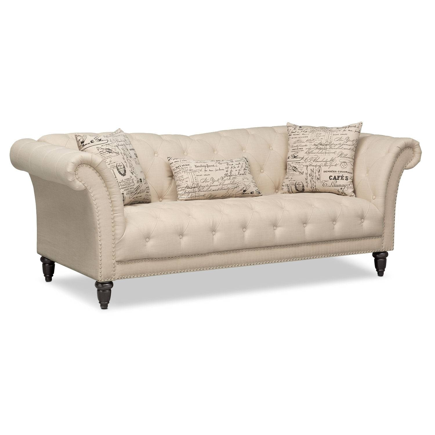 Marisol Sofa - Beige | Value City Furniture within Sofas (Image 8 of 15)