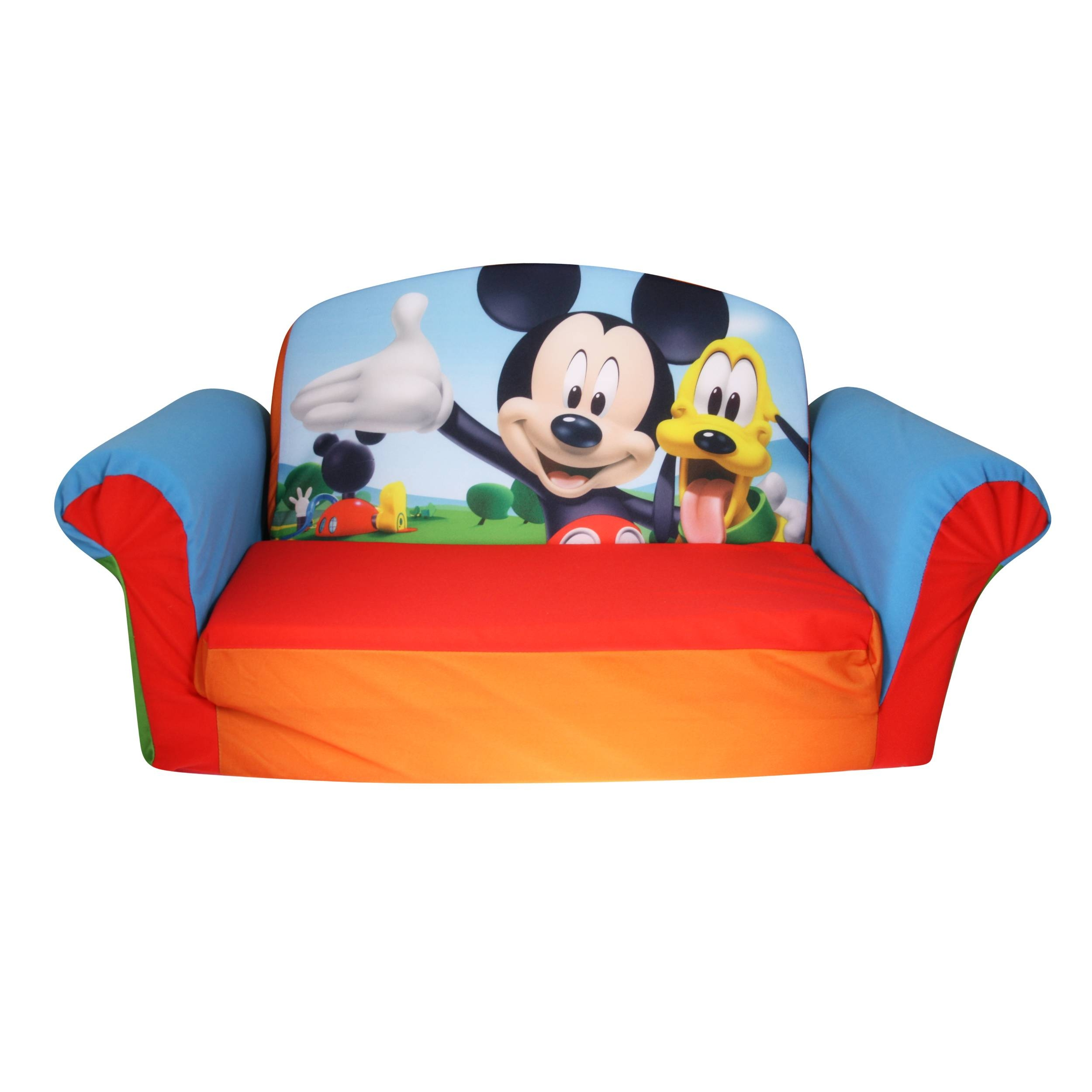 Marshmallow Furniture, Children's 2 In 1 Flip Open Foam Sofa for Mickey Mouse Clubhouse Couches (Image 3 of 15)