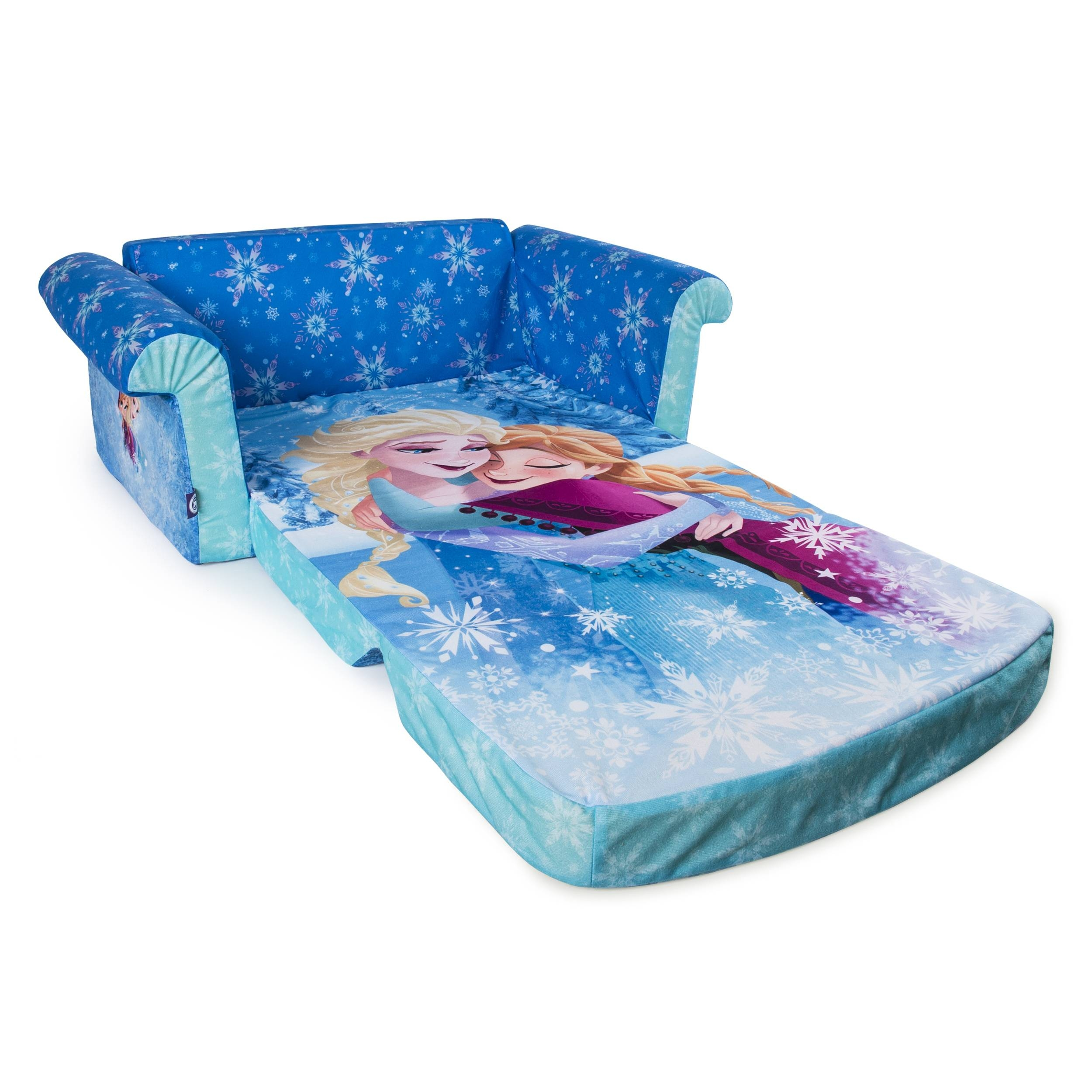 Marshmallow Furniture, Children's 2 In 1 Flip Open Foam Sofa Throughout Disney Sofas (Photo 12 of 15)