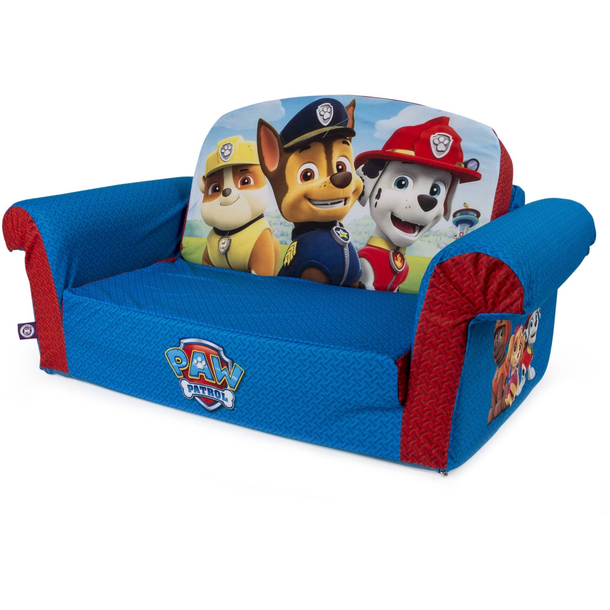 Marshmallow Furniture, Children's 2 In 1 Flip Open Foam Sofa with Childrens Sofa Chairs (Image 10 of 15)