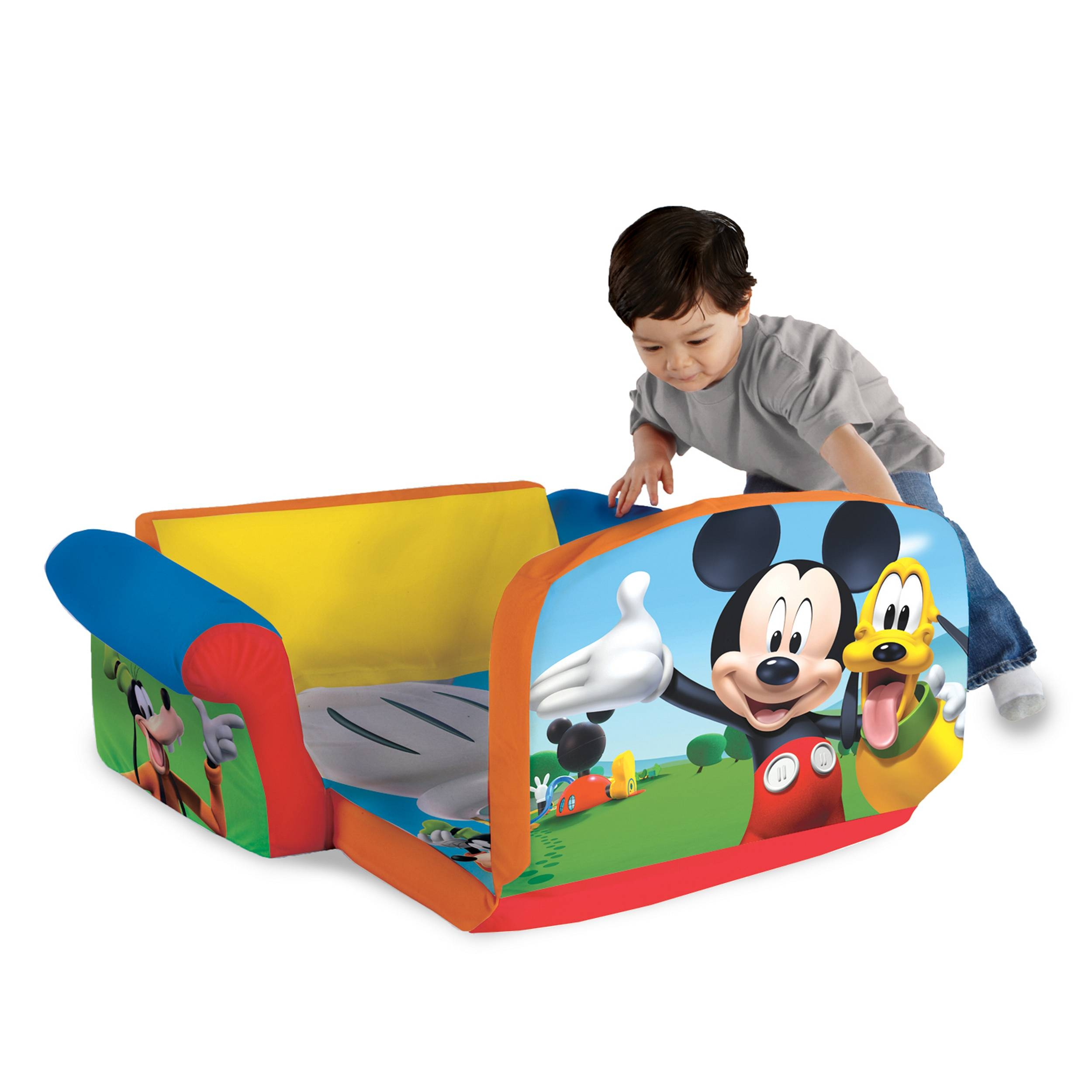 Marshmallow Furniture, Children's 2 In 1 Flip Open Foam Sofa with regard to Mickey Mouse Clubhouse Couches (Image 6 of 15)