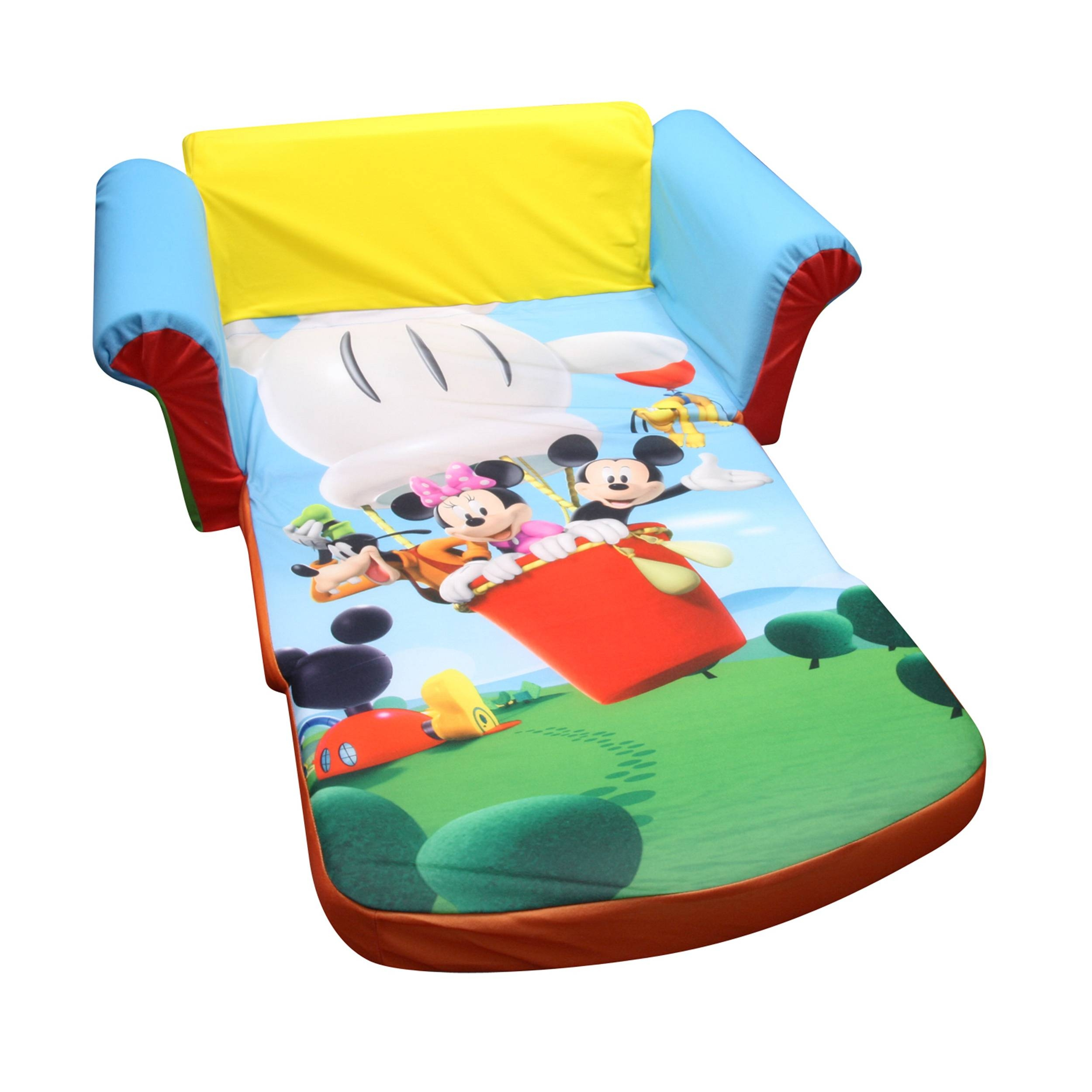 Marshmallow Furniture, Children's 2 In 1 Flip Open Foam Sofa with regard to Mickey Mouse Clubhouse Couches (Image 5 of 15)