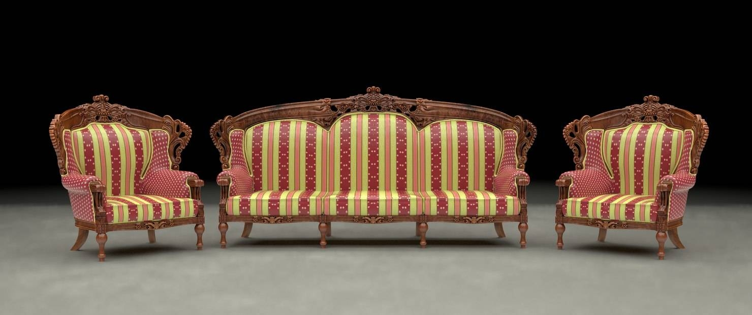 Max Armchair Sofa Ethnic Carved With Regard To Carved Wood Sofas (View 8 of 15)