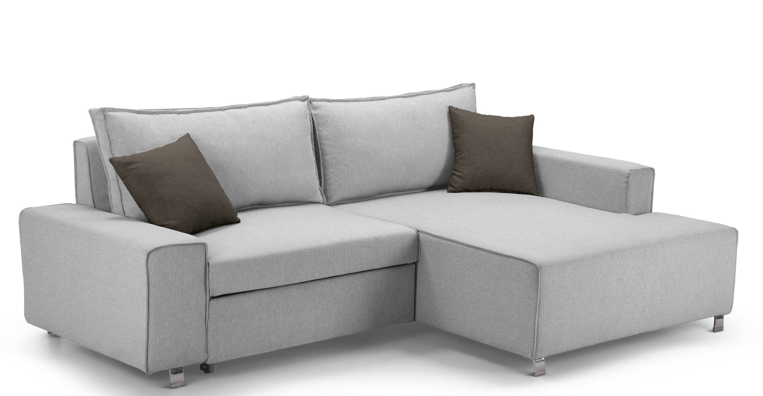 Mayne Right Hand Facing Corner Sofa Bed, Clear Grey Stone | Made Throughout Corner Sofa Beds (View 12 of 15)