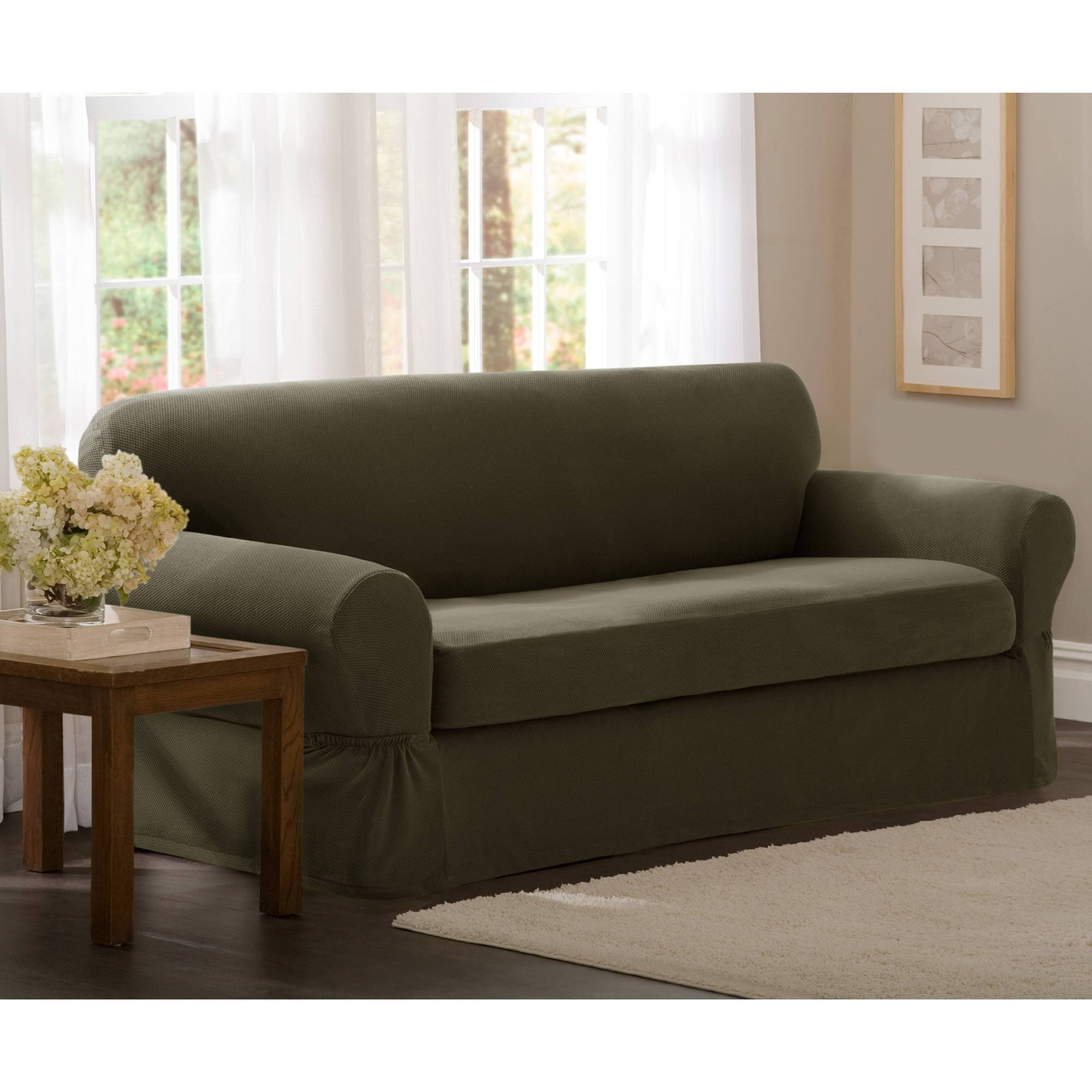 Maytex Stretch Pixel 2-Piece Loveseat Slipcover - Walmart pertaining to Sofa and Loveseat Covers (Image 8 of 15)