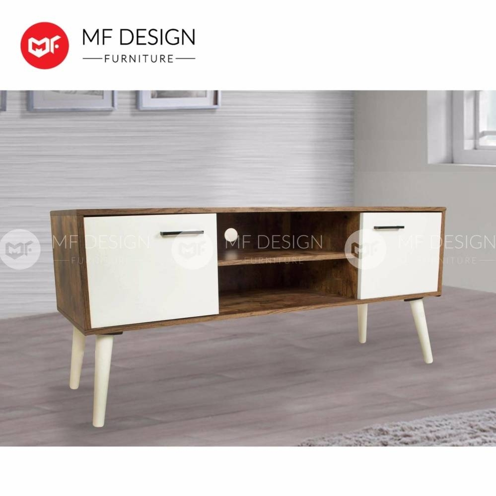 Mf Design Holix 4 Feet Tv Cabinet (Scandinavian Design) | Lazada throughout Scandinavian Design Tv Cabinets (Image 10 of 15)