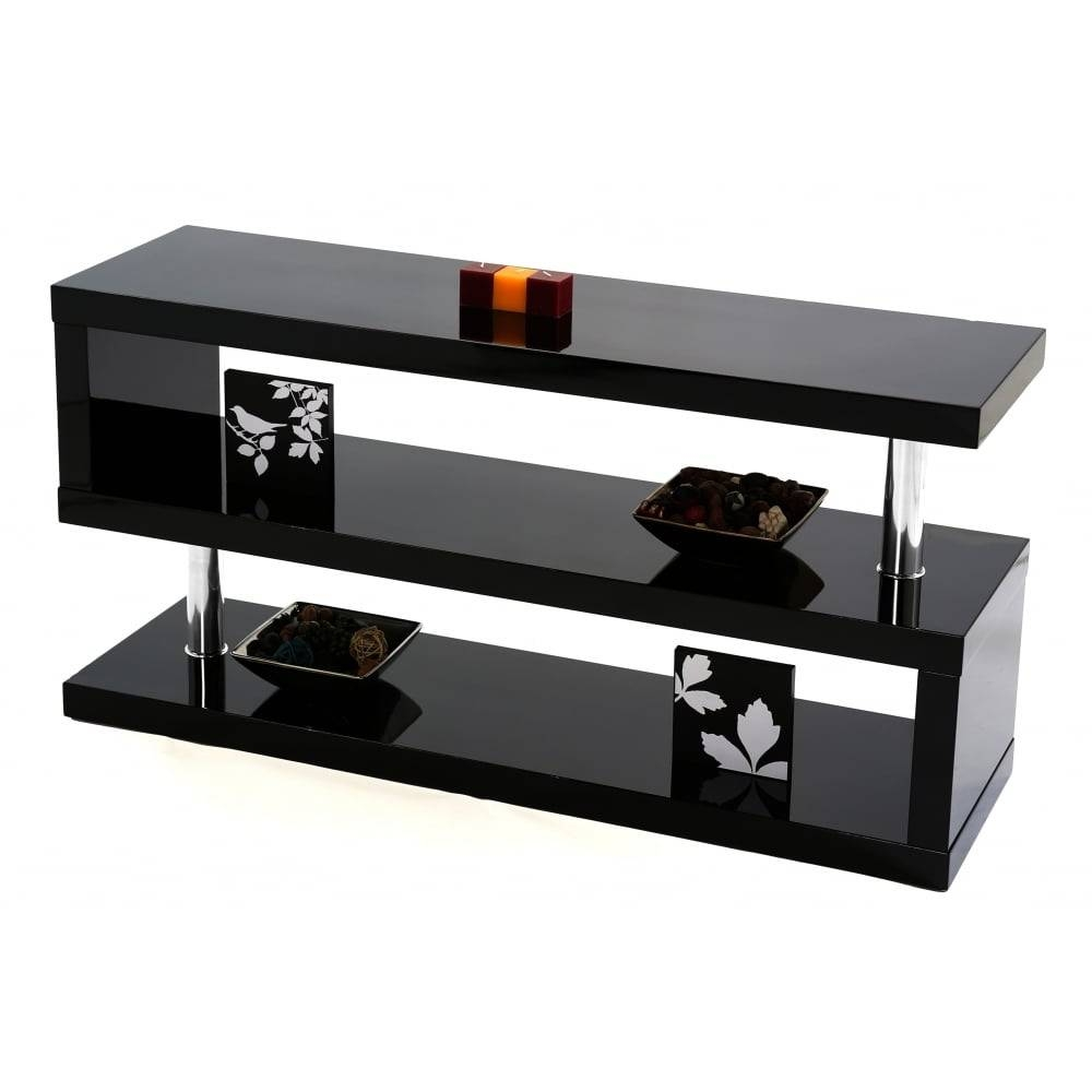 Mfs Furniture Miami Black Gloss Tv Stand - Mfs Furniture From intended for Red Tv Stands (Image 8 of 15)