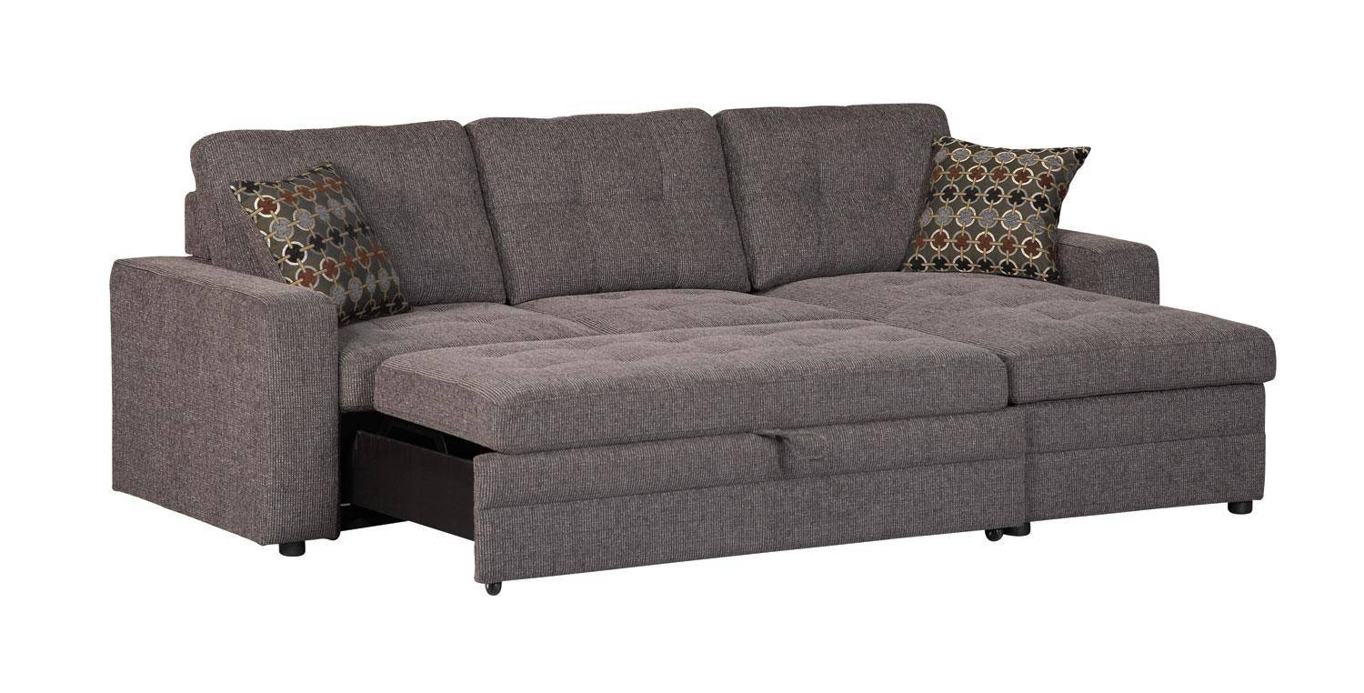 Microfiber Chaise Sleeper Sofa | Centerfieldbar in Microsuede Sleeper Sofas (Image 7 of 15)