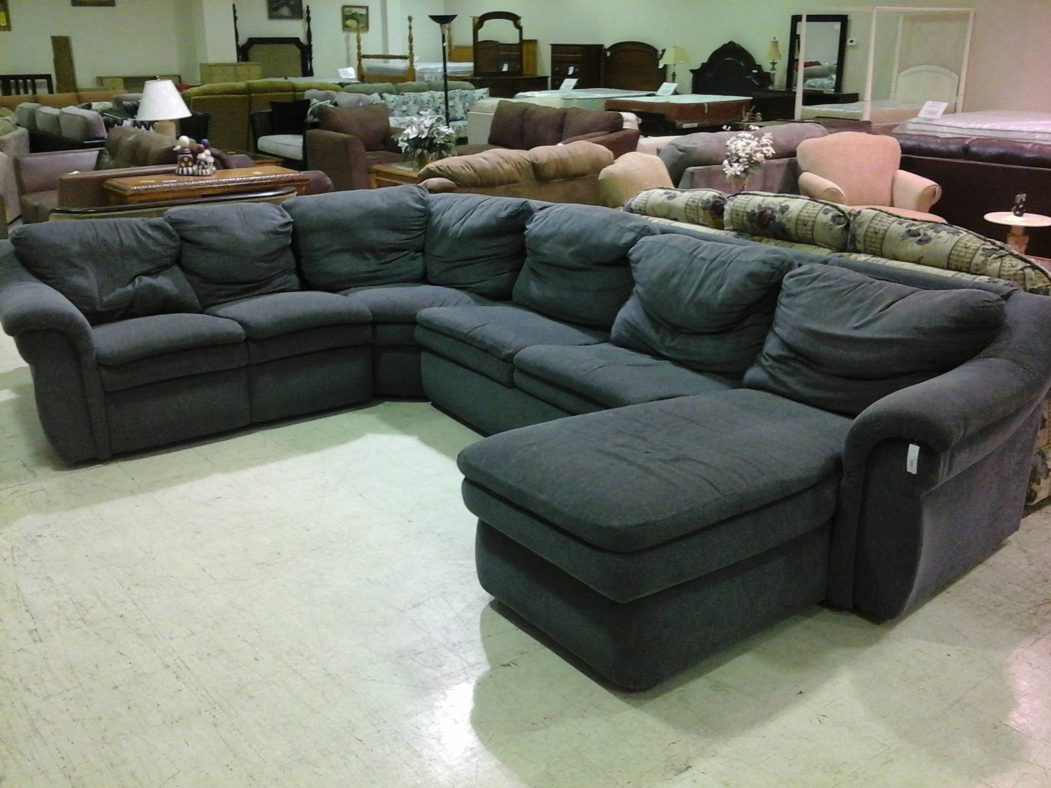 Microfiber Chaise Sleeper Sofa | Centerfieldbar pertaining to Microsuede Sleeper Sofas (Image 8 of 15)