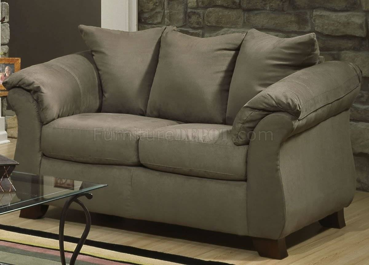 Microfiber Elegant Modern Sofa & Loveseat Set W/options for Green Microfiber Sofas (Image 10 of 15)