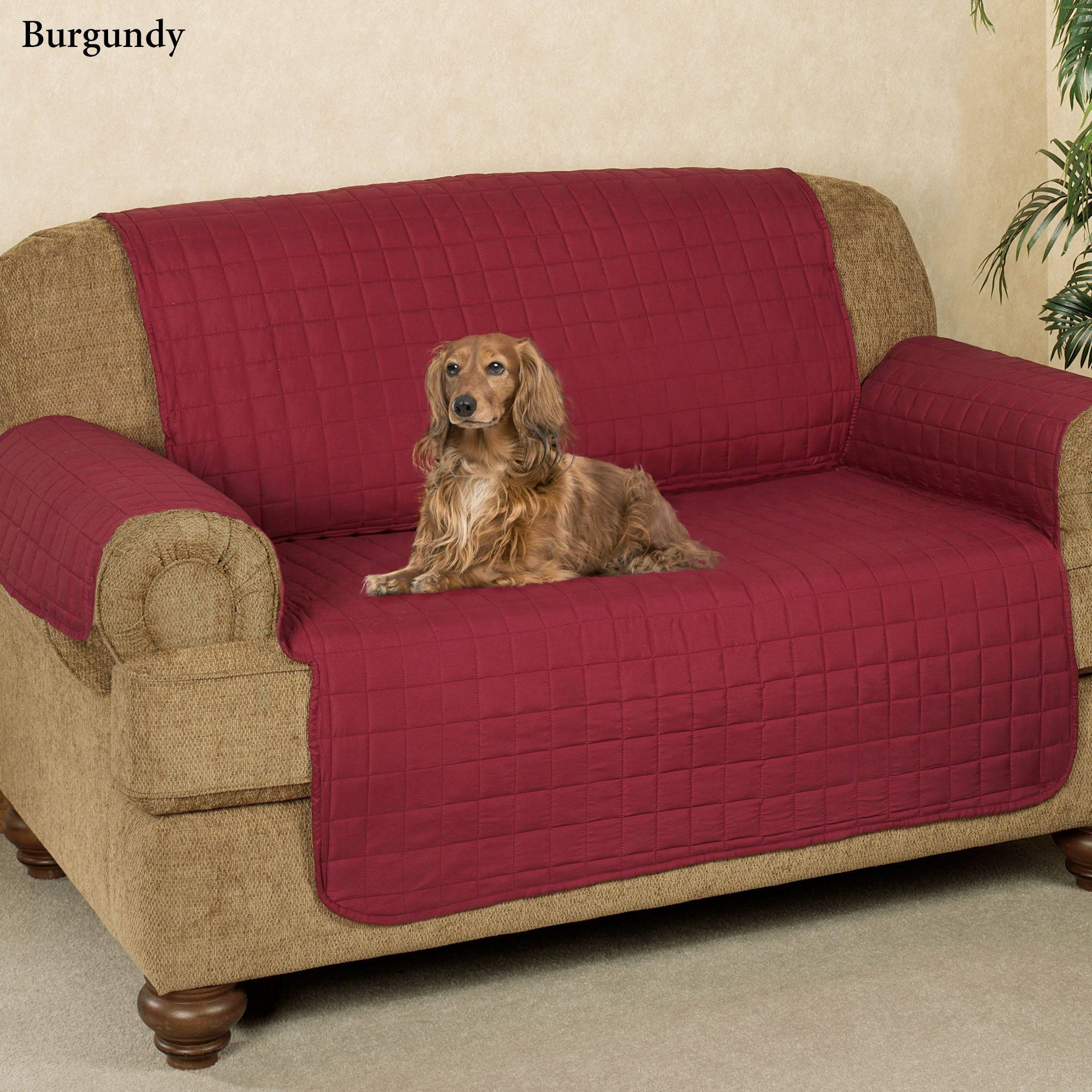 Microfiber Pet Furniture Covers With Tuck In Flaps within Sofa and Loveseat Covers (Image 9 of 15)