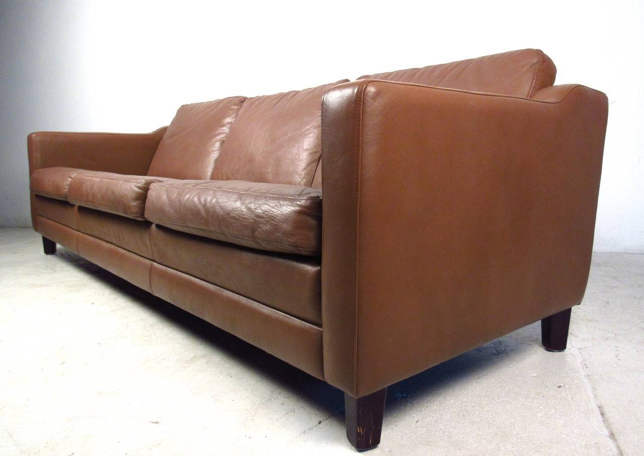 Mid-Century Modern Danish Leather Sofa In The Style Of Børge regarding Modern Danish Sofas (Image 7 of 15)