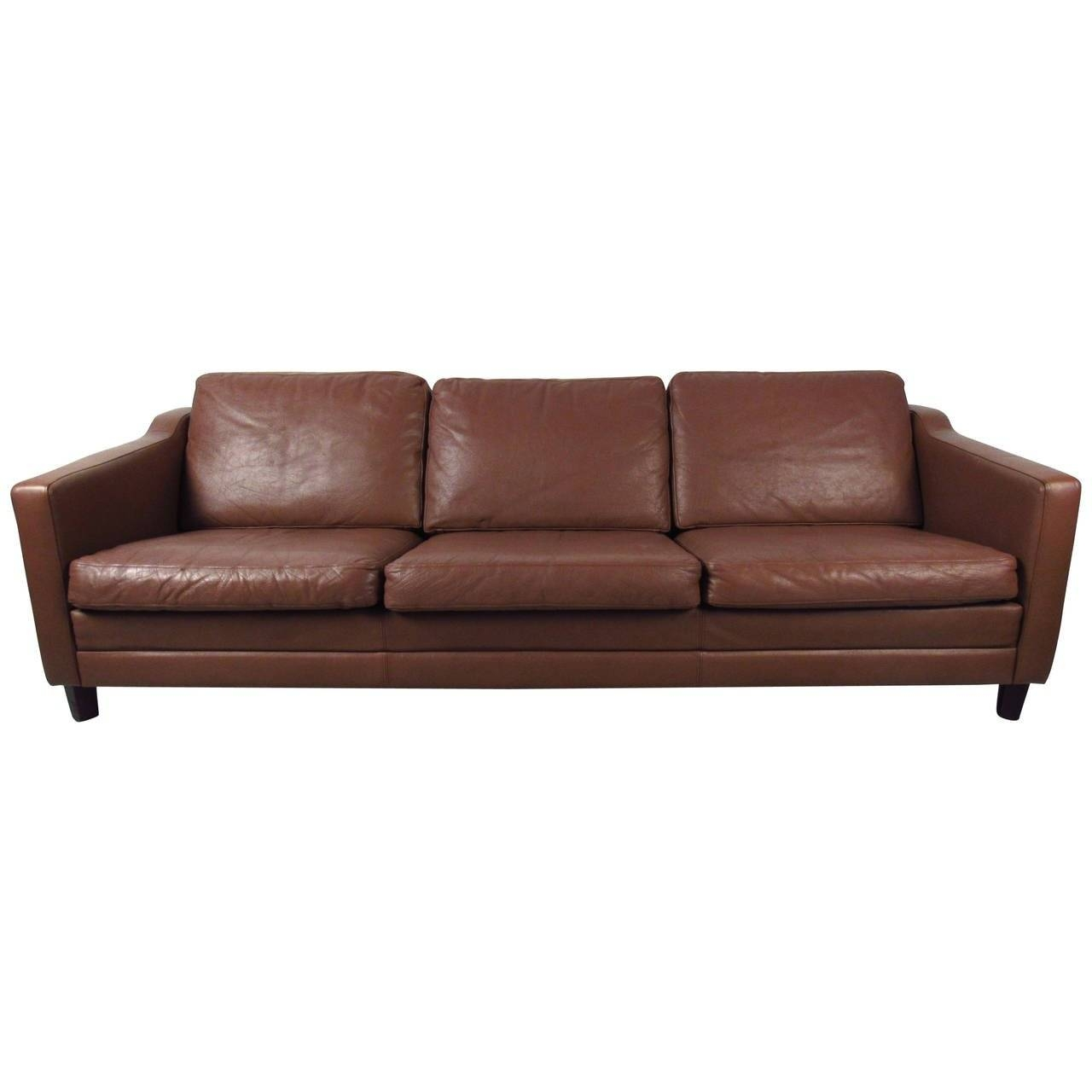Mid-Century Modern Danish Leather Sofa In The Style Of Børge throughout Danish Leather Sofas (Image 13 of 15)