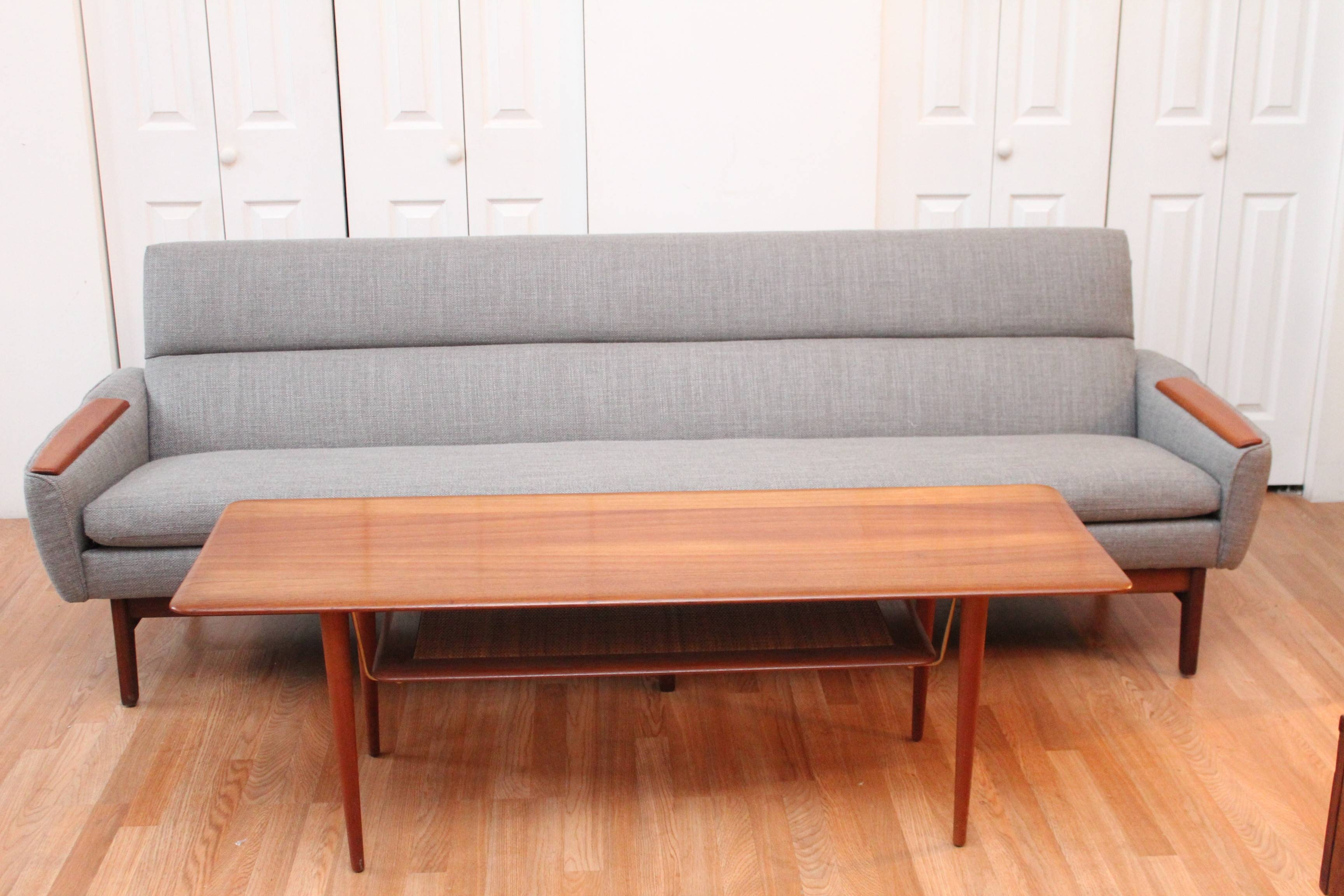 Mid Century Modern Danish Sofa With Teak Armrests | An Orange Moon pertaining to Modern Danish Sofas (Image 6 of 15)