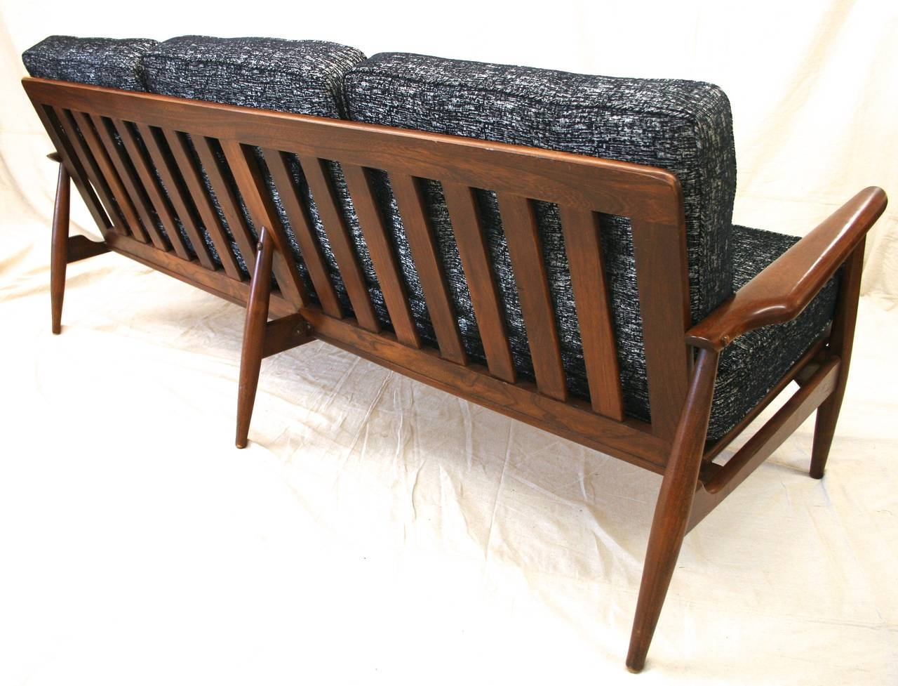 Mid-Century Modern Danish Sofa With Walnut Frame And New for Modern Danish Sofas (Image 9 of 15)