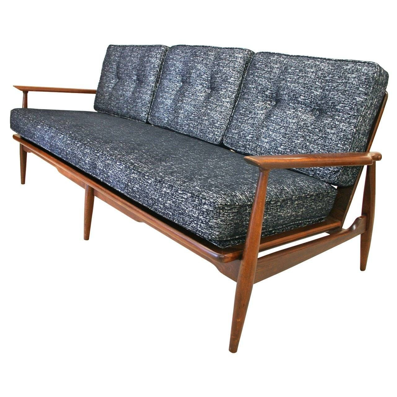 Mid-Century Modern Danish Sofa With Walnut Frame And New intended for Modern Danish Sofas (Image 10 of 15)