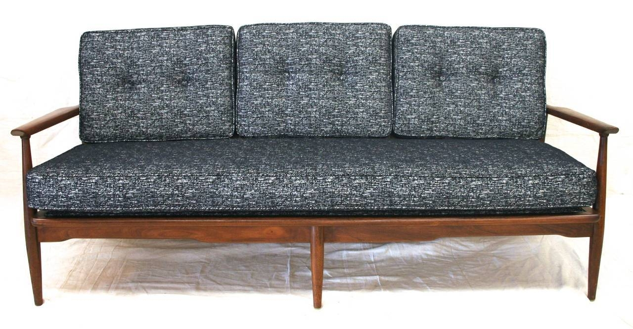 Mid-Century Modern Danish Sofa With Walnut Frame And New pertaining to Modern Danish Sofas (Image 11 of 15)