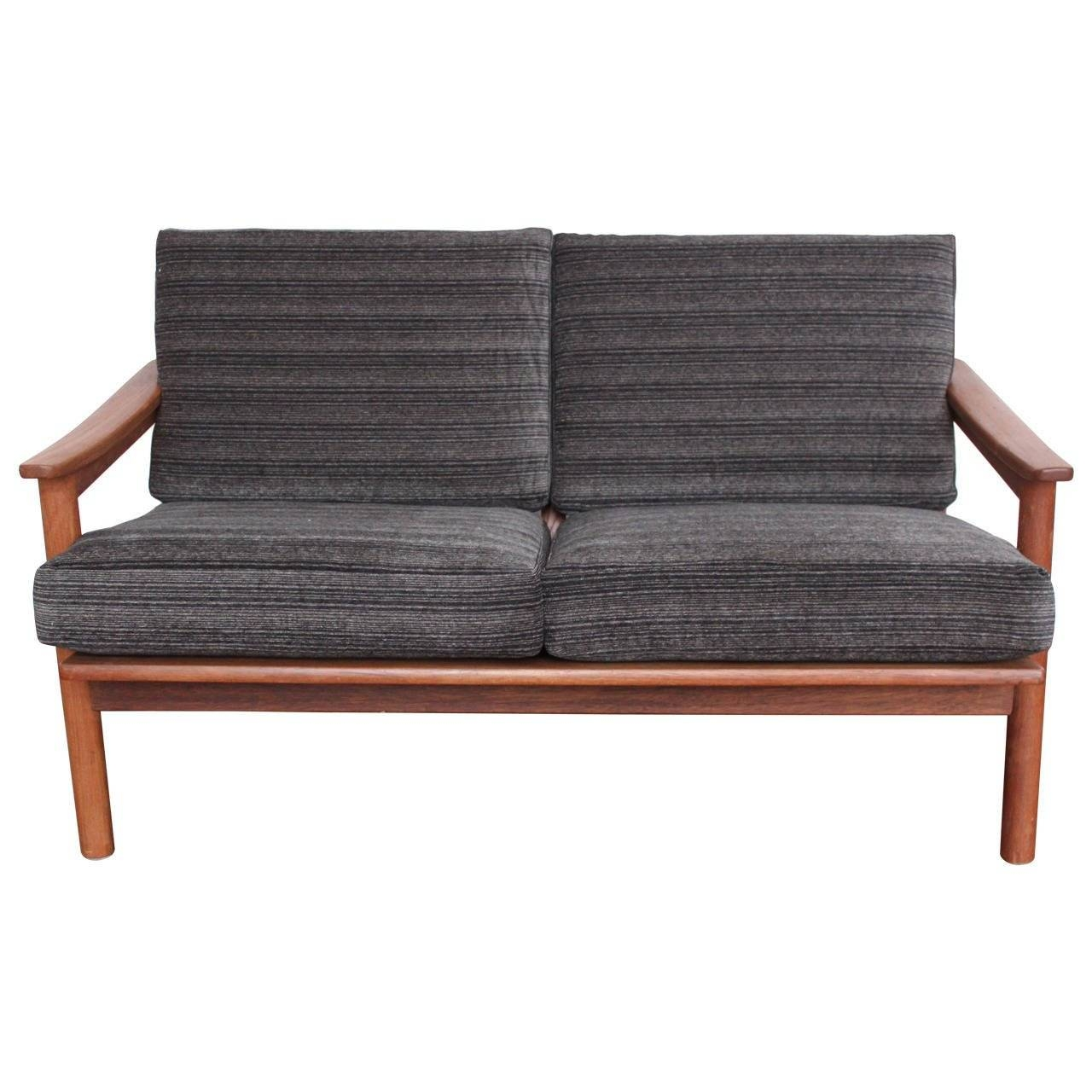 Mid-Century Modern Danish Teak Loveseat Sofa At 1Stdibs intended for Modern Danish Sofas (Image 12 of 15)