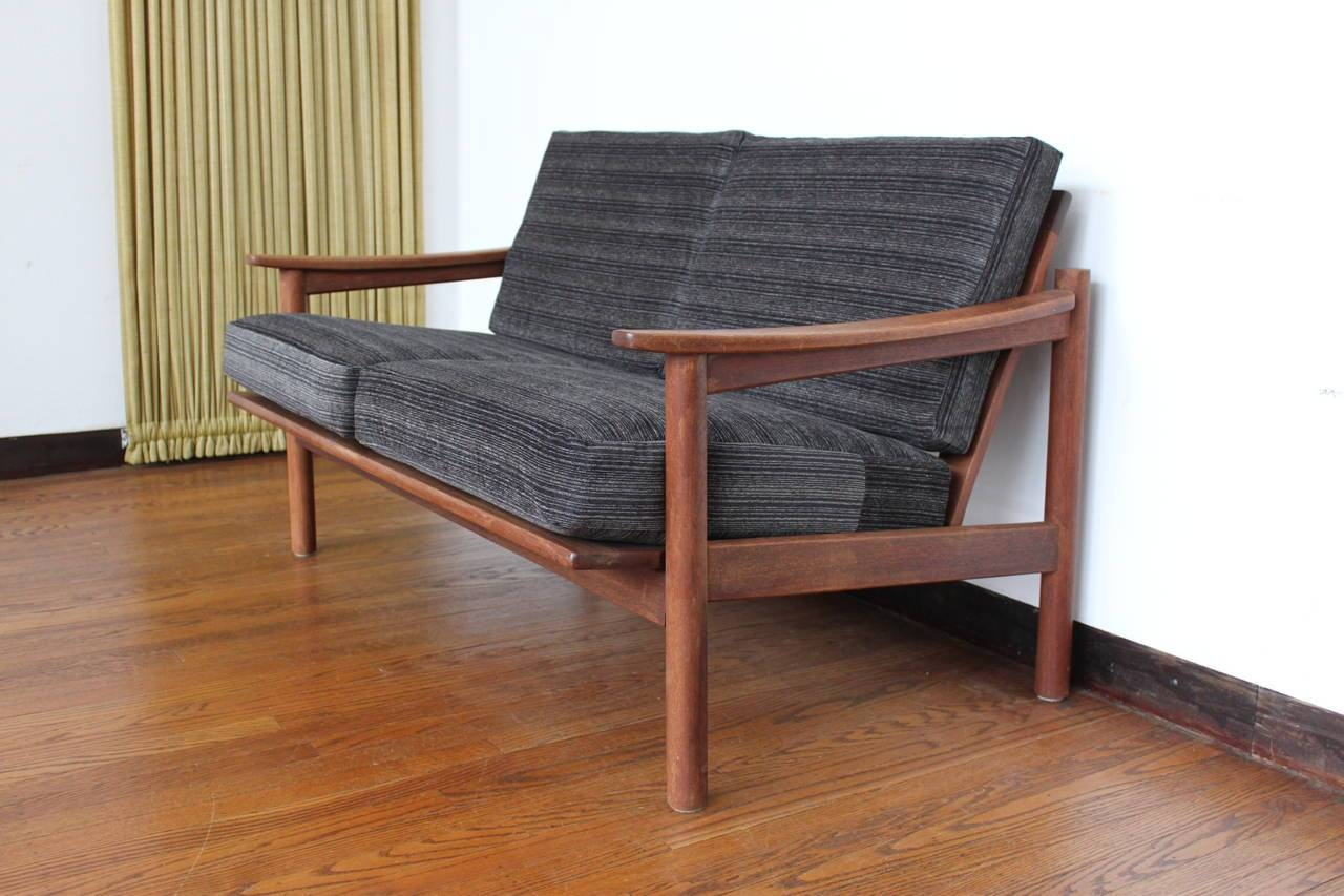 Mid-Century Modern Danish Teak Loveseat Sofa At 1Stdibs within Modern Danish Sofas (Image 13 of 15)
