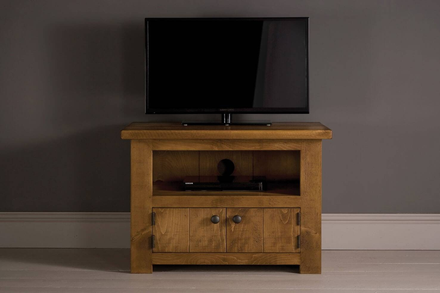 Midi Plank Tv Cabinet With Doorsindigo Furniture Regarding Small Tv Cabinets (View 11 of 15)