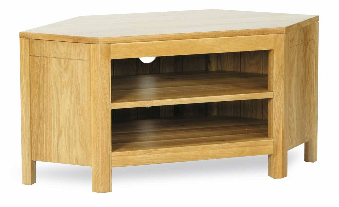Milano Oak Low Corner Tv Unit | Furniture Plus Online for Low Corner Tv Cabinets (Image 8 of 15)