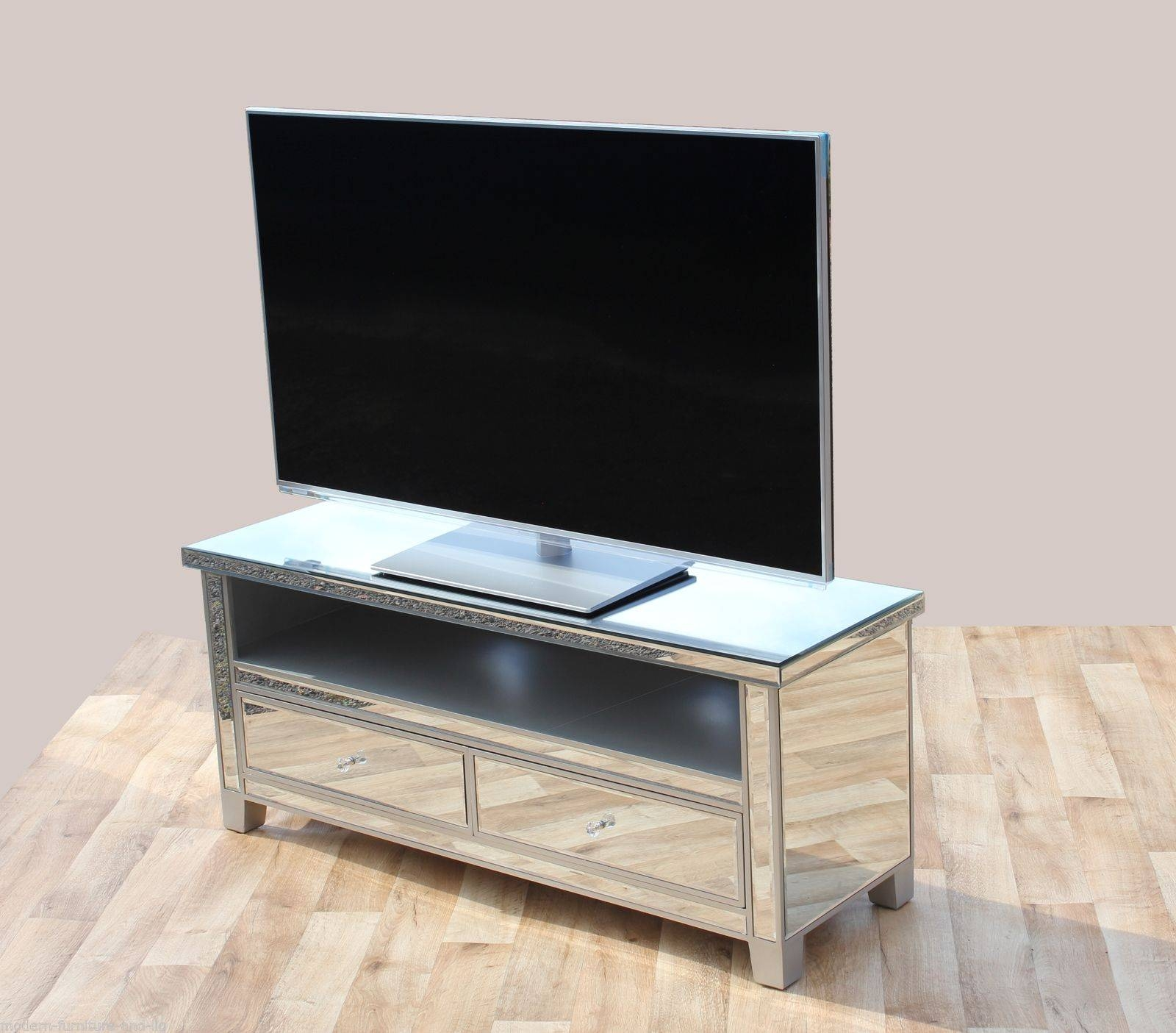 Mirror Design Ideas: Fabulous Paint Mirror Tv Cabinet Silver Brush With Regard To Silver Tv Stands (View 12 of 15)