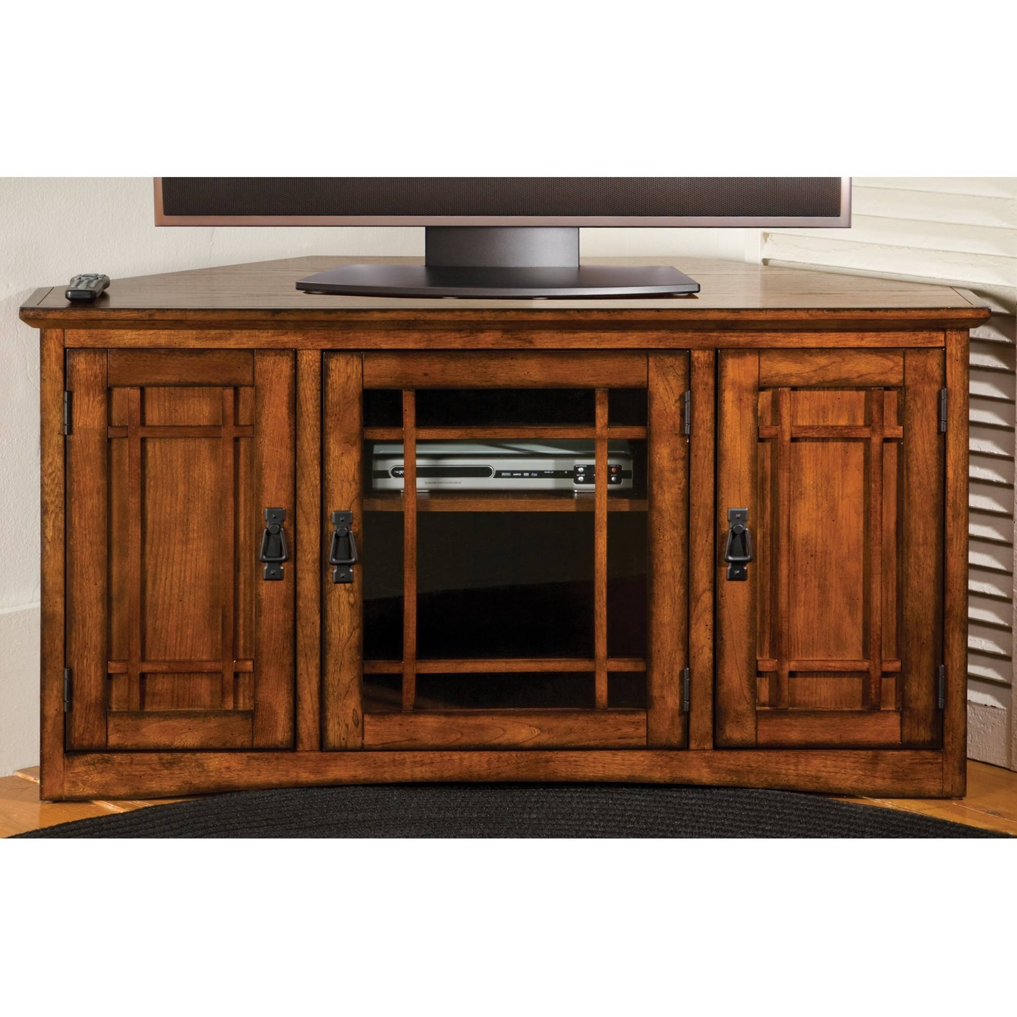 Mission Corner Tv Cabinet | Sturbridge Yankee Workshop pertaining to Black Corner Tv Cabinets With Glass Doors (Image 7 of 15)