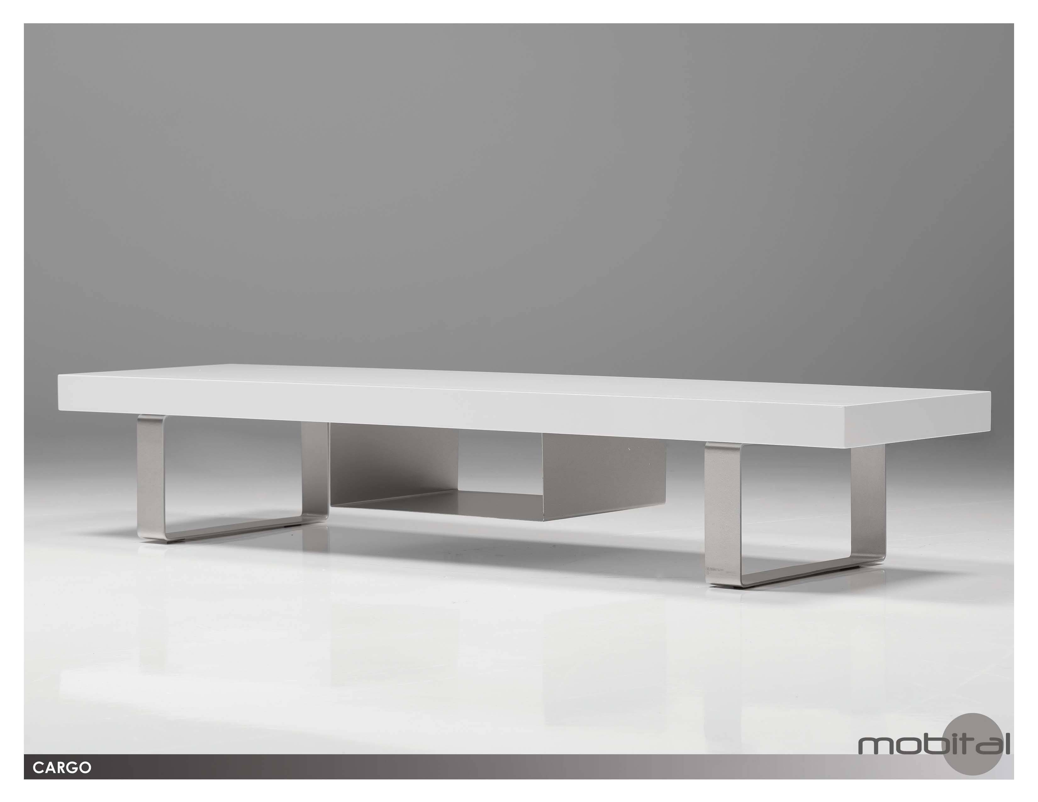 Mobital Cargo Modern White Tv Stand Modern Furnishings within Modern White Tv Stands (Image 9 of 15)