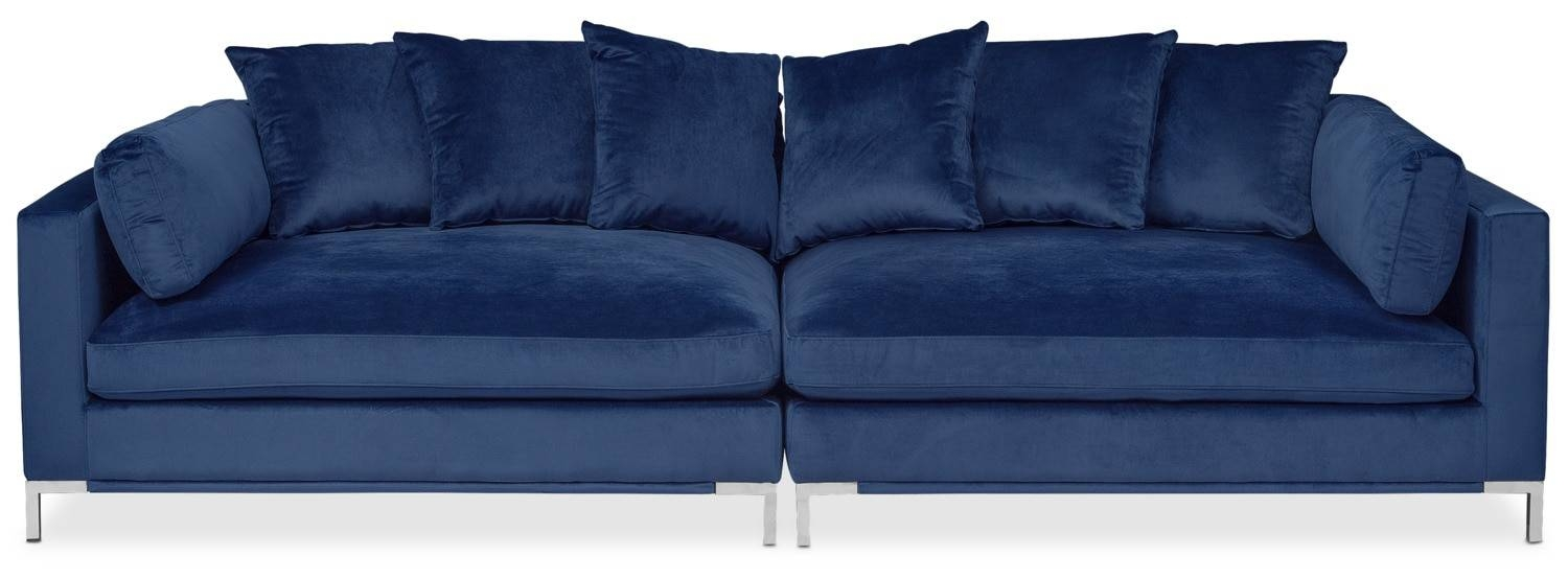 Moda 2-Piece Sofa - Blue | Value City Furniture in 2 Piece Sofas (Image 11 of 15)