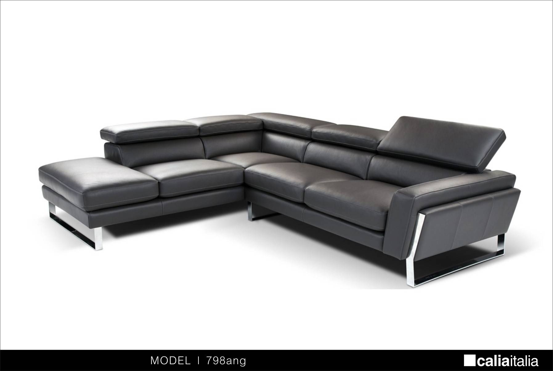 Modern Black Italian Leather Sectional Sofa - S3Net - Sectional with Black Modern Sectional Sofas (Image 7 of 15)