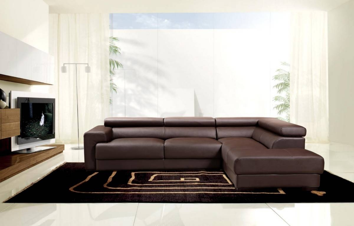Popular Photo of Contemporary Brown Leather Sofas