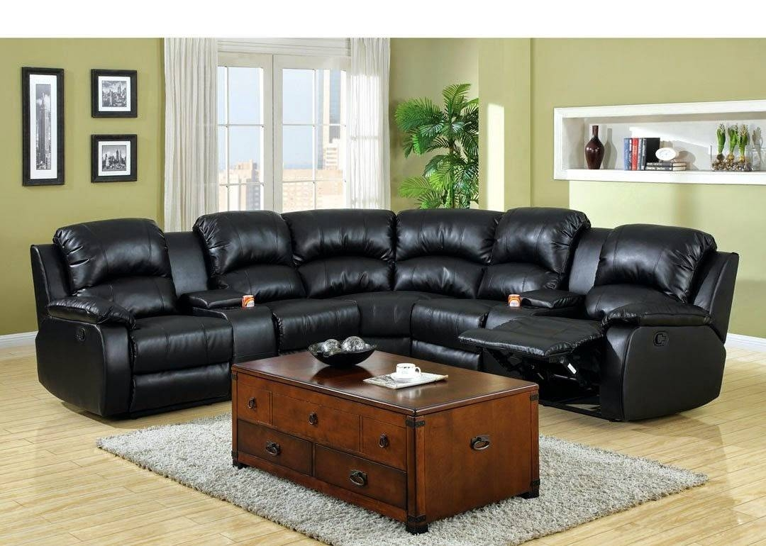 Modern Cheap Reclining Sofa Reviews: Reclining Sofa With Center Intended For Sofas With Console (View 10 of 15)