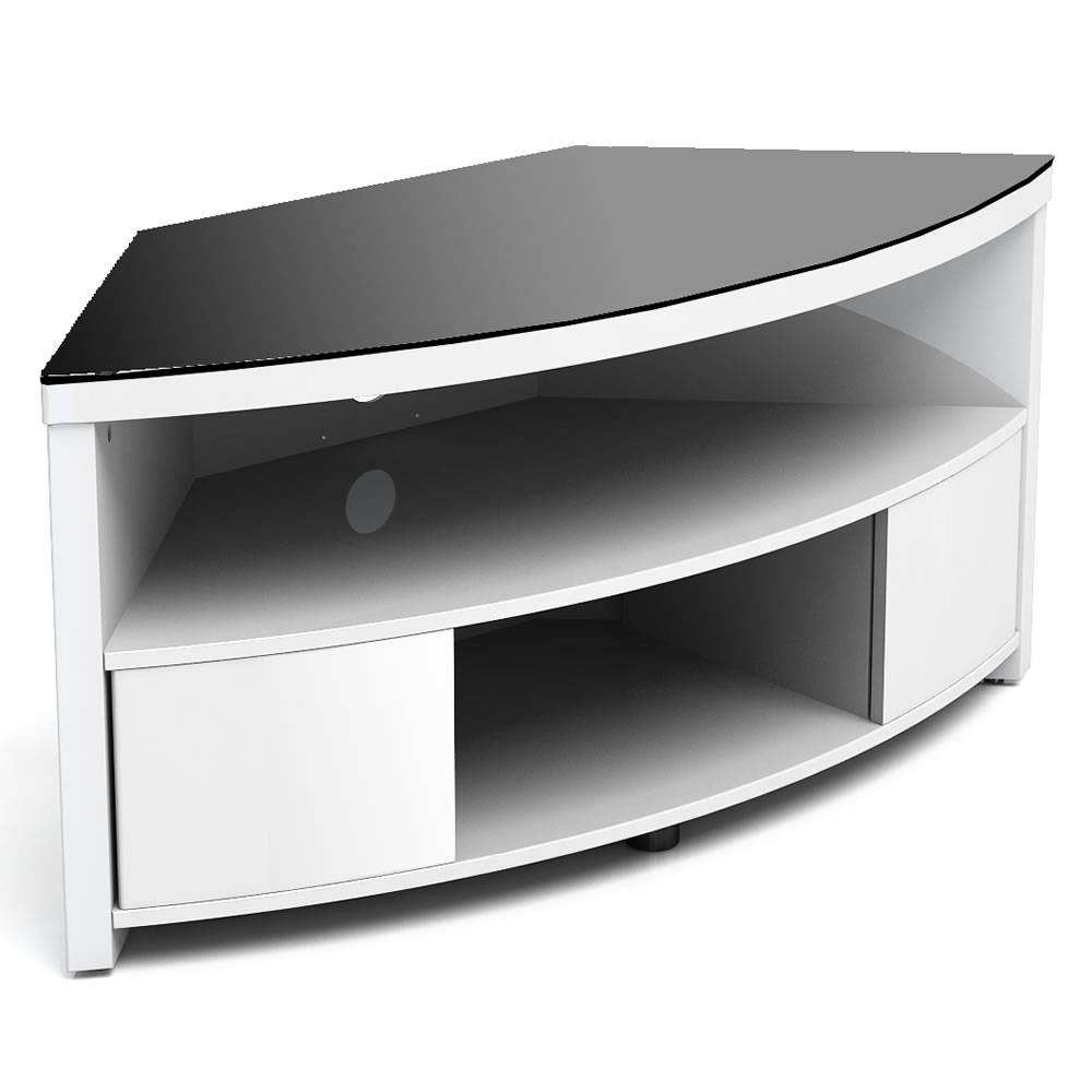 "Modern Corner Tv Stand, Furnitech Ft60Cccfb 60"" Tv Stand With Corner Tv Tables Stands (View 7 of 15)"