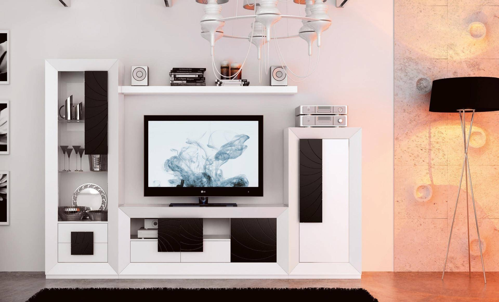 Modern lcd tv cabinet designs home design for Lcd designs for living room