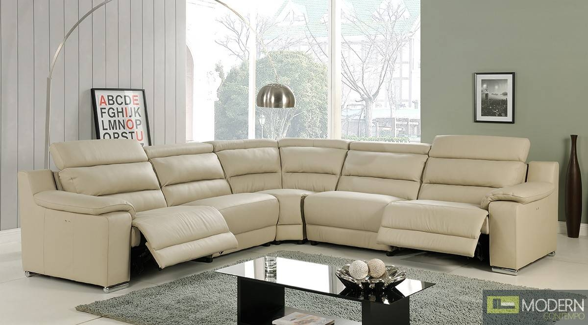Modern Italian Leather Reclining Sectional Sofa pertaining to Italian Recliner Sofas (Image 11 of 15)