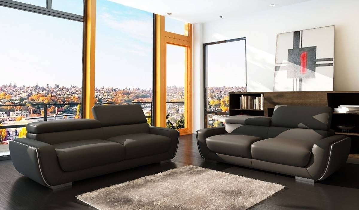 Modern Italian Leather Sofa Set throughout Italian Leather Sofas (Image 9 of 15)