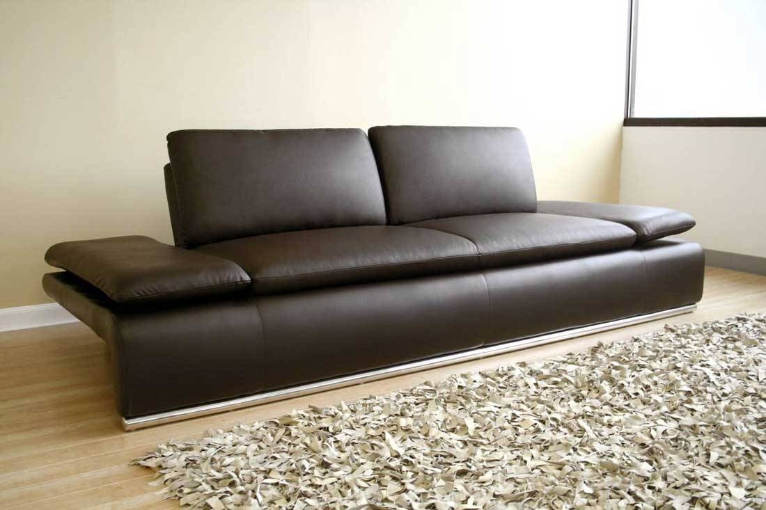 Modern Leather Couch: Luxury In Home — Home Ideas Collection with regard to Contemporary Brown Leather Sofas (Image 14 of 15)