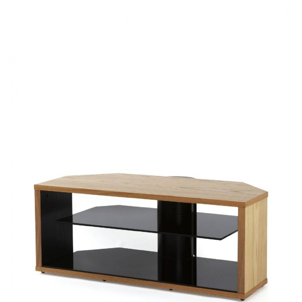 Modern Oak Tv Stand Light Wooden Corner Display Unit within Glass And Oak Tv Stands (Image 7 of 15)