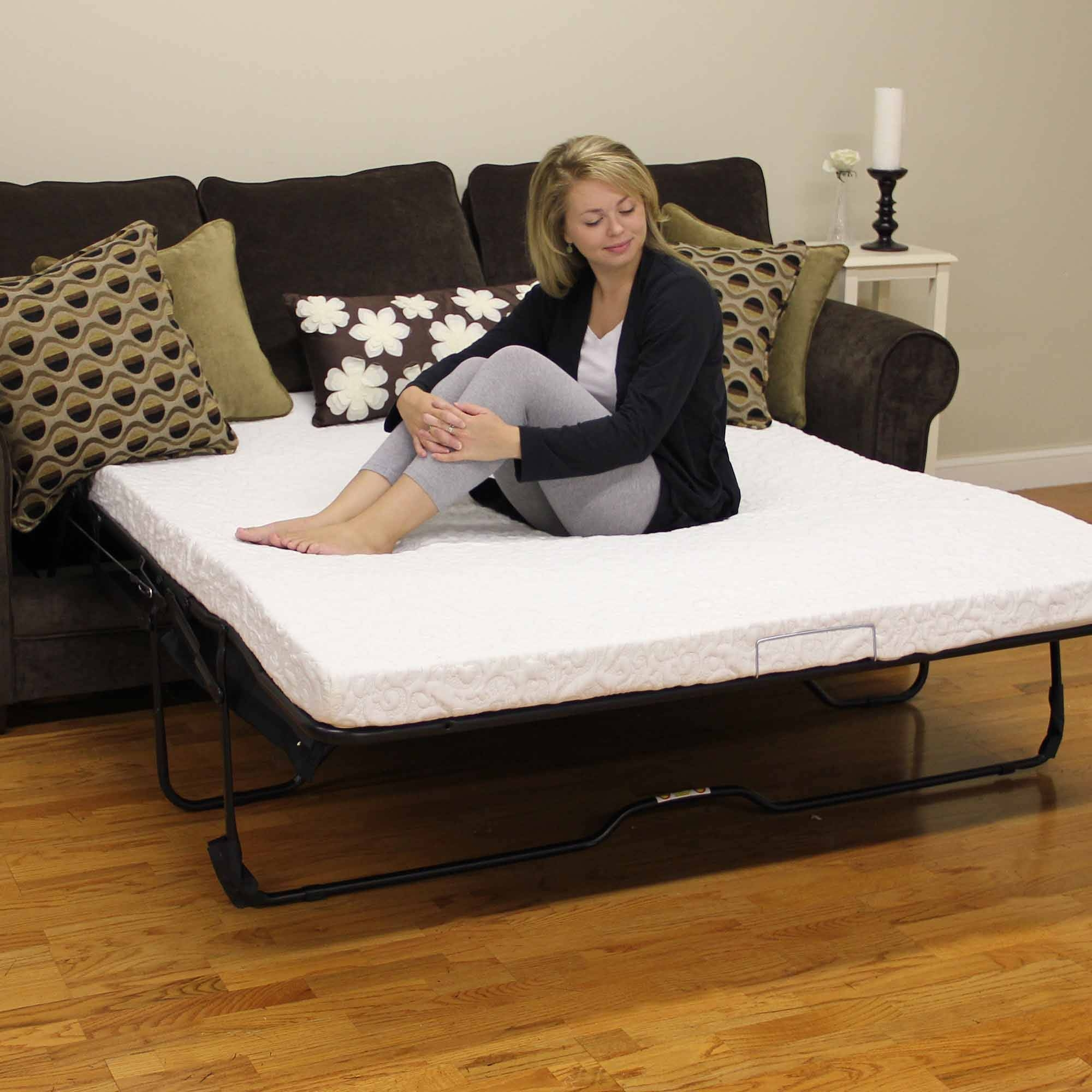 "Modern Sleep Cool Gel 4.5"" Gel Memory Foam Sofa Bed Mattress intended for Sofa Beds With Mattress Support (Image 8 of 15)"
