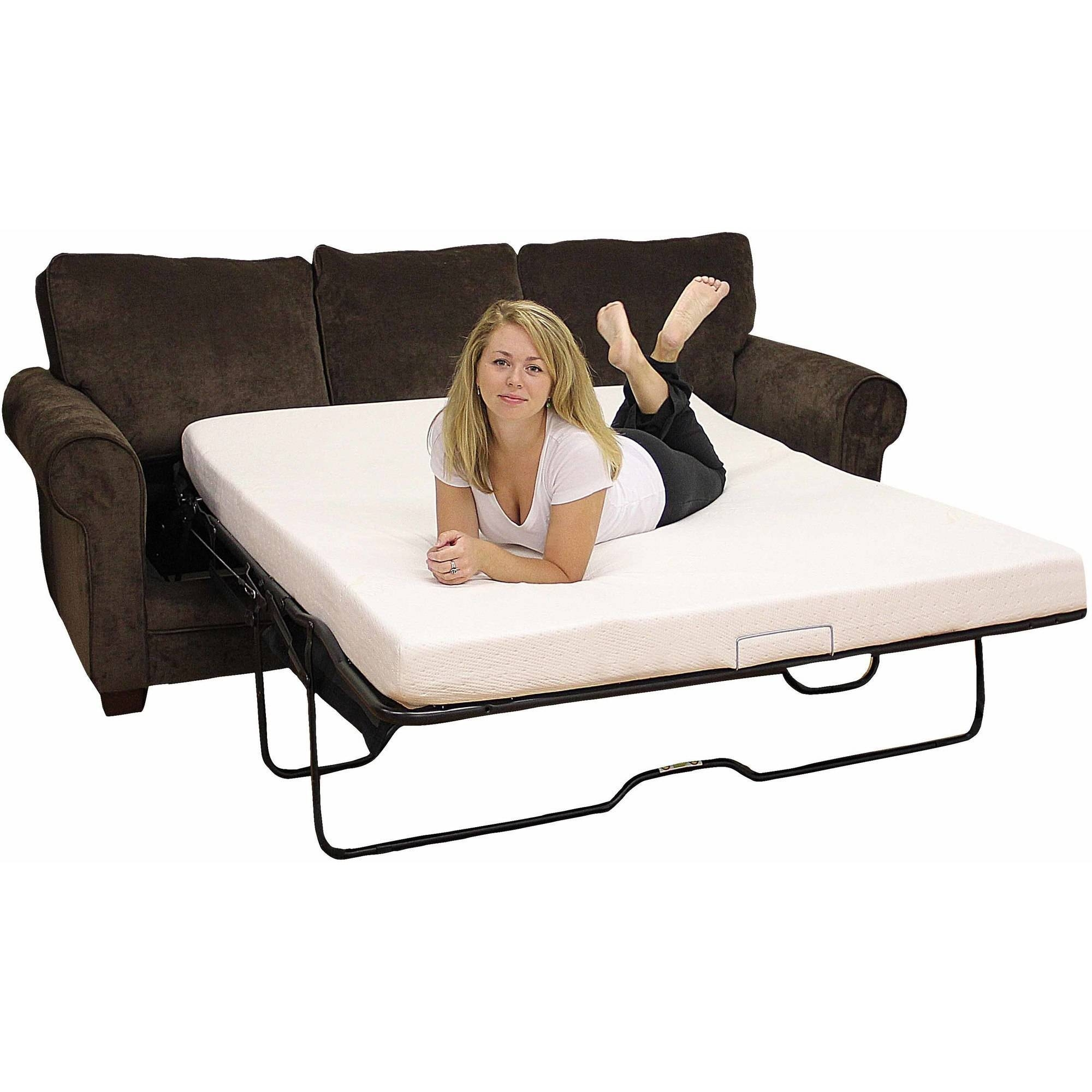 "Modern Sleep Memory Foam 4.5"" Sofa Bed Mattress, Multiple Sizes inside Sofa Beds With Mattress Support (Image 9 of 15)"
