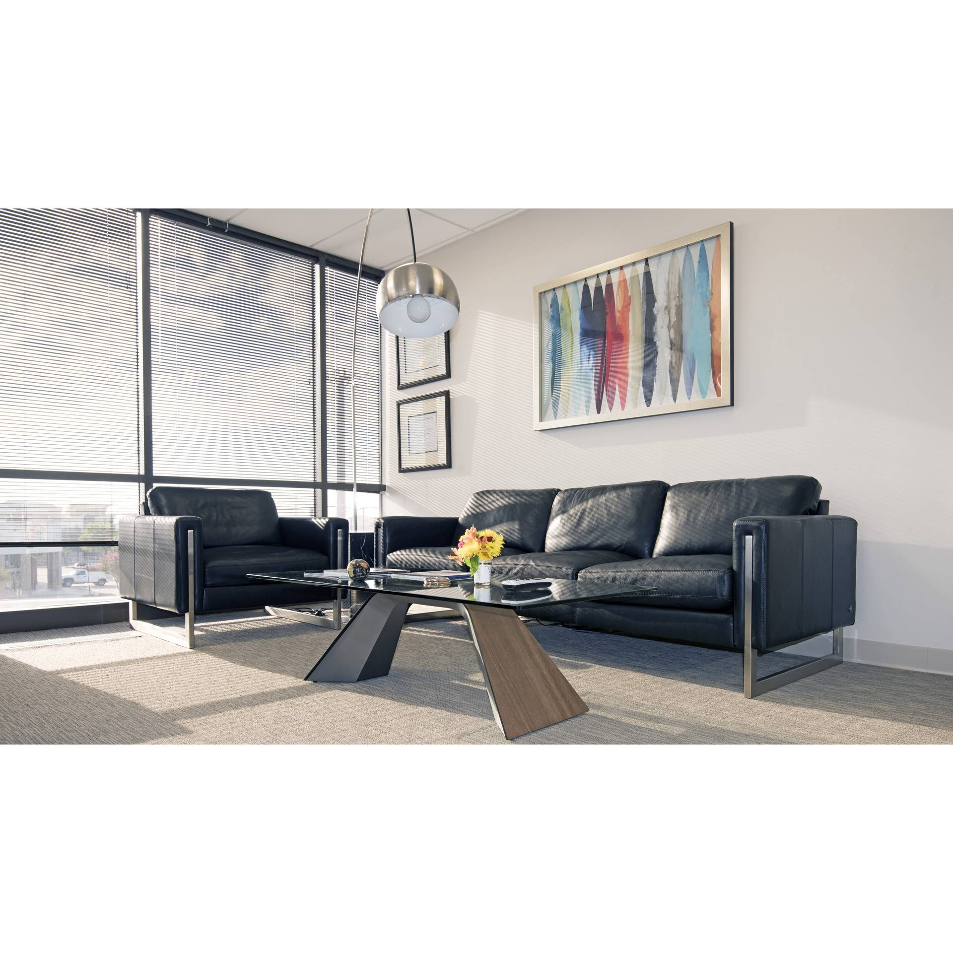 Modern Sofas Savinoamerican Leather Black | Cantoni within Cantoni Sofas (Image 10 of 15)