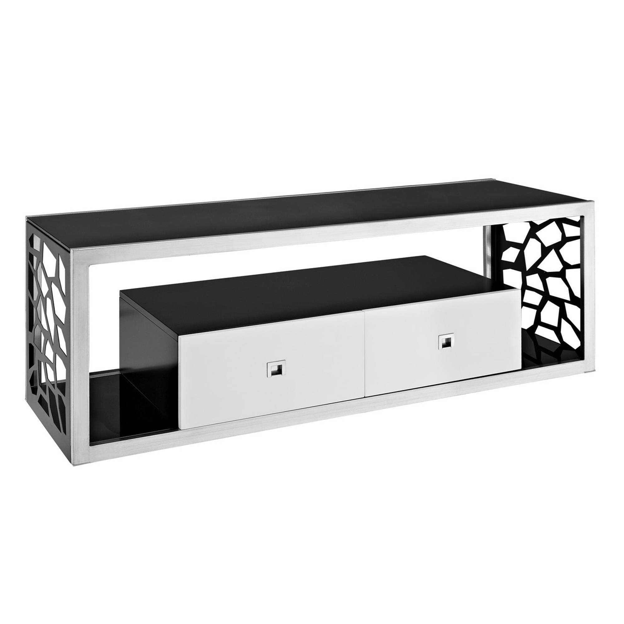 Modern Television Stand 60″ T.v. Stands Entertainment Center with regard to Silver Tv Stands (Image 7 of 15)