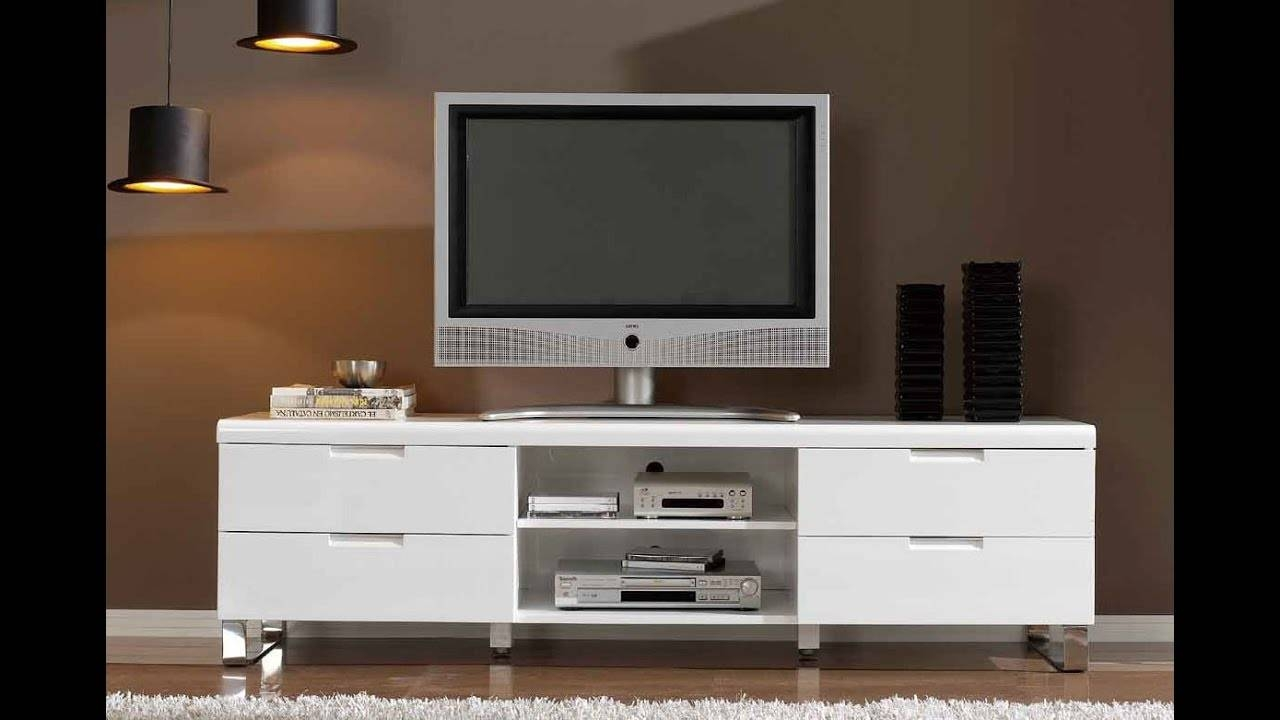 Modern Tv Stands For Flat Screens - Youtube regarding Contemporary Tv Cabinets For Flat Screens (Image 9 of 15)