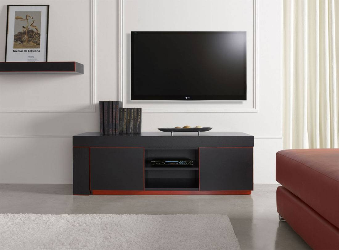 Modern Tv Stands With Red Accent Inside Black And Red Tv Stands (View 9 of 15)